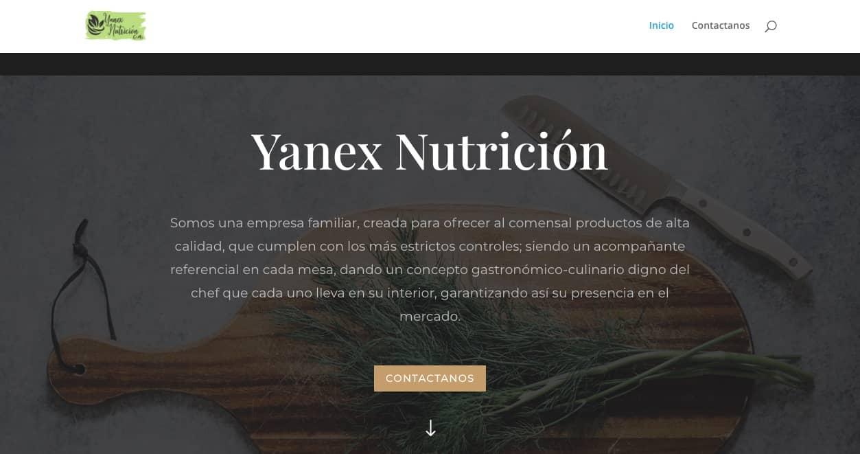 Página web de Yanex Nutrición